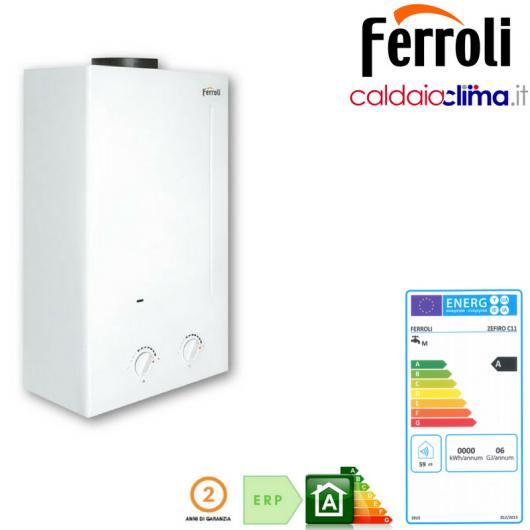 Scaldabagno a gas Metano - Ferroli Zefiro C11