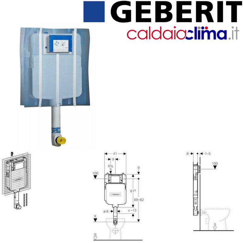 kit per connessione cassetta WC da incasso Canotto bianco UNIVERSALE tipo Geberit.