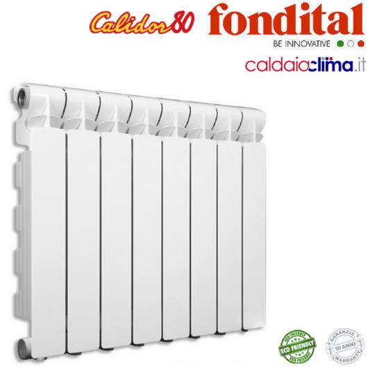 RADIATORE IN ALLUMINIO FONDITAL CALIDOR 80/600 BATTERIA 10 ELEMENTI