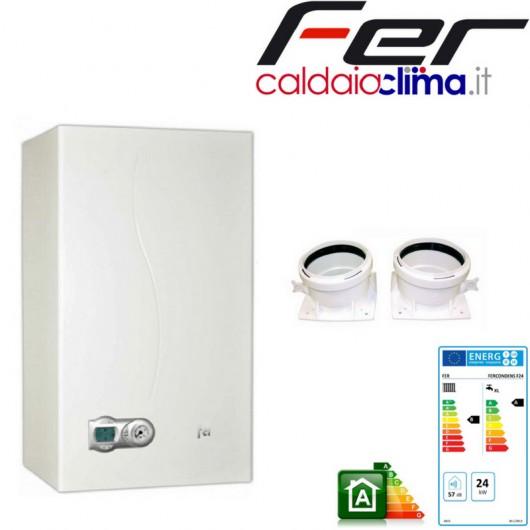 Caldaia a condensazione Fercondens F24-24 kw Metano+kit fumi