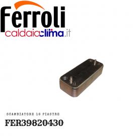 FERROLI SCAMBIATORE SANITARIO A 16 PIASTRE ORIGINALE PER CALDAIE FER39820430