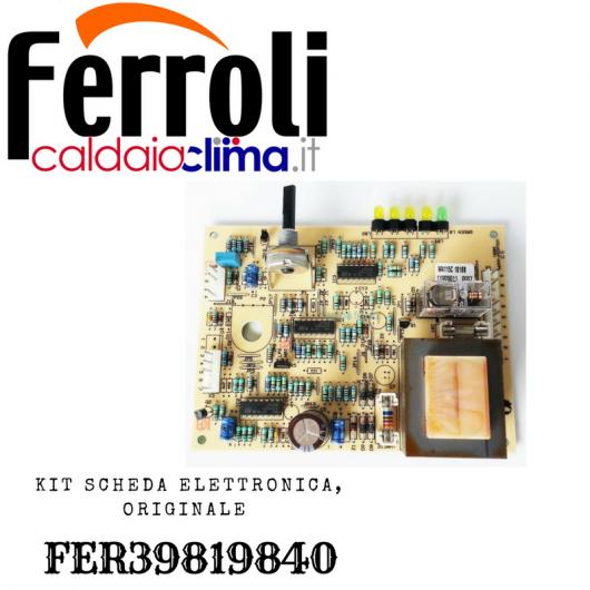 FERROLI KIT SCHEDA ELETTRONICA ORIGINALE FER39819840