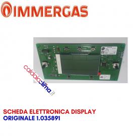 IMMERGAS SCHEDA ELETTRONICA DISPLAY ORIGINALE 1.035891