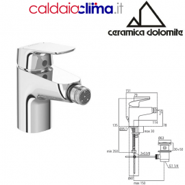 CERAMICA DOLOMITE MISCELATORE MONOCOMANDO BIDET MOD. BASE-B5115