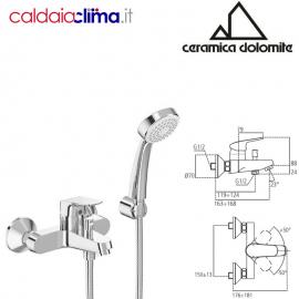 CERAMICA DOLOMITE MISCELATORE ESTERNO PER VASCA/DOCCIA MOD. BASE B5120