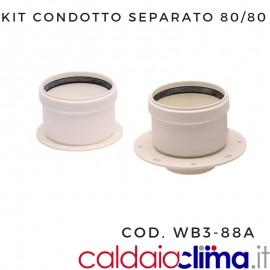KIT ATTACCHI FLANGIATI 80/80-CONDOTTO SEPARATO