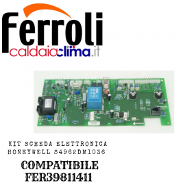 FERROLI KIT SCHEDA ELETTRONICA HONEYWELL S4962DM1036 COMPATIBILE FER39811411