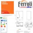 Caldaia condensazione Ferroli Bluehelix K 50-32 kw Accumulo Sanitario