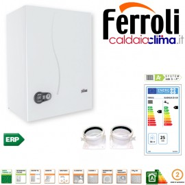 Caldaia condensazione Ferroli Bluehelix K 50-25 kw Accumulo Sanitario