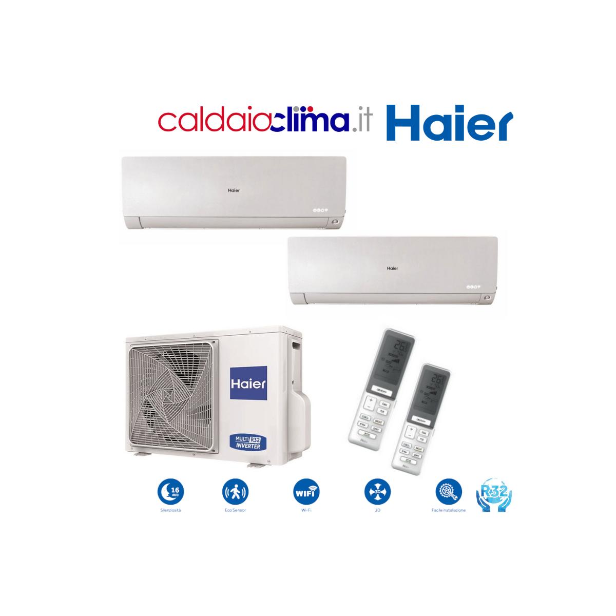 Climatizzatore Haier Dualsplit 2U50 Flexis 9000+12000 btu