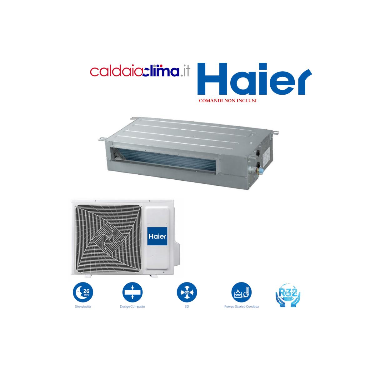 Climatizzatore Haier Canalizzato Slim Bassa Pressione 12000 BTU R-32