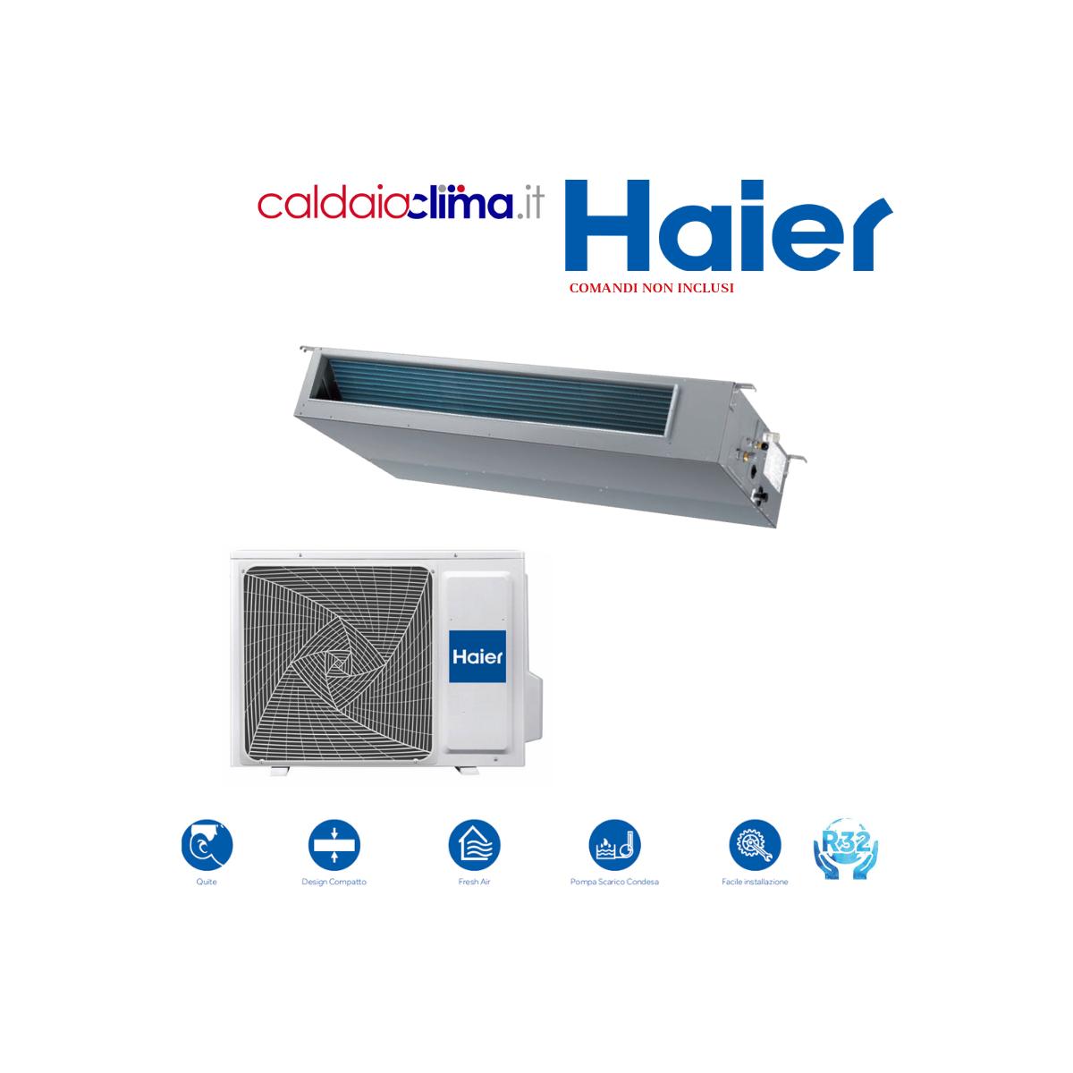 Climatizzatore Haier Canalizzato Slim Media Pressione 18000 BTU R-32