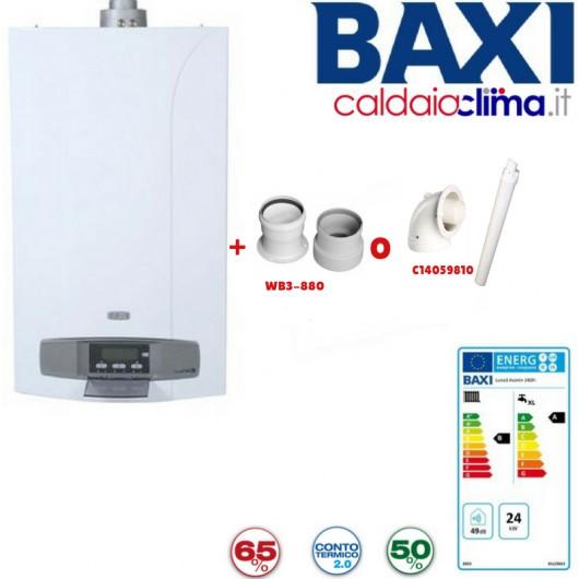Caldaia a condensazione Baxi Luna3 Avant+ 24kw Metano+KIT FUMI