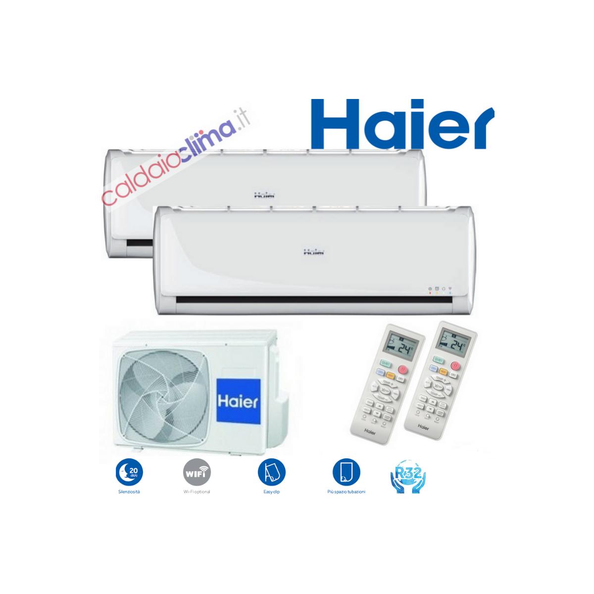 Climatizzatore Haier Dualsplit TUNDRA 2.0 2U40 -  9000+12000 btu