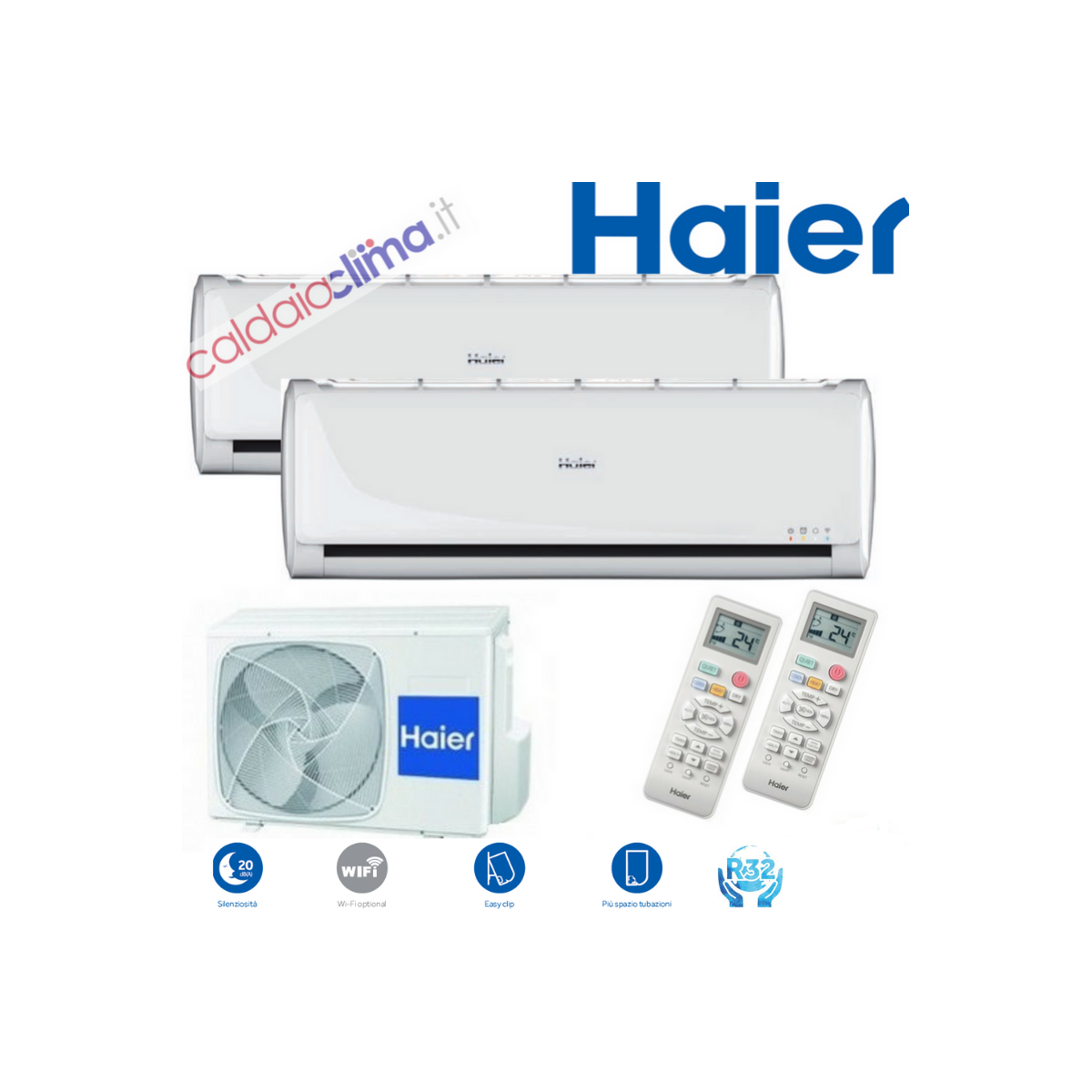 Climatizzatore Haier Dualsplit TUNDRA 2.0 2U40 - 9000+9000 btu