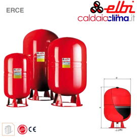 Vaso d'espansione per riscaldamento a membrana fissa Elbi ERCE80