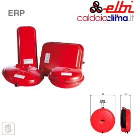 Vaso d'espansione piatto a membrana fissa per riscaldamento Elbi ERP 320-8