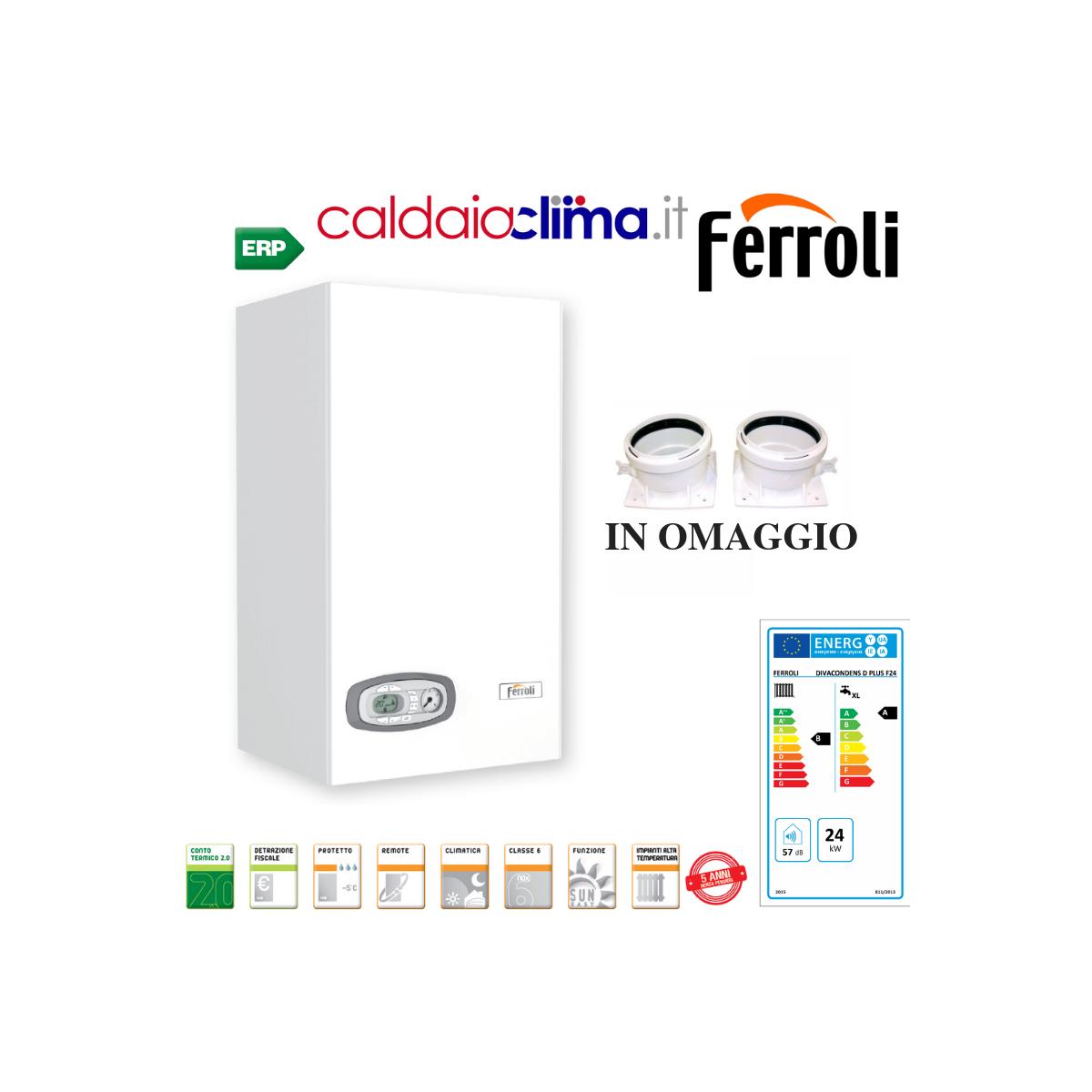 Caldaia a condensazione Ferroli Divacondens Plus D F24-24kw Metano
