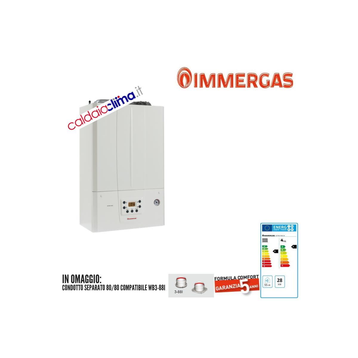 Caldaia a condensazione Immergas Victrix Tera 28-28 kw GPL