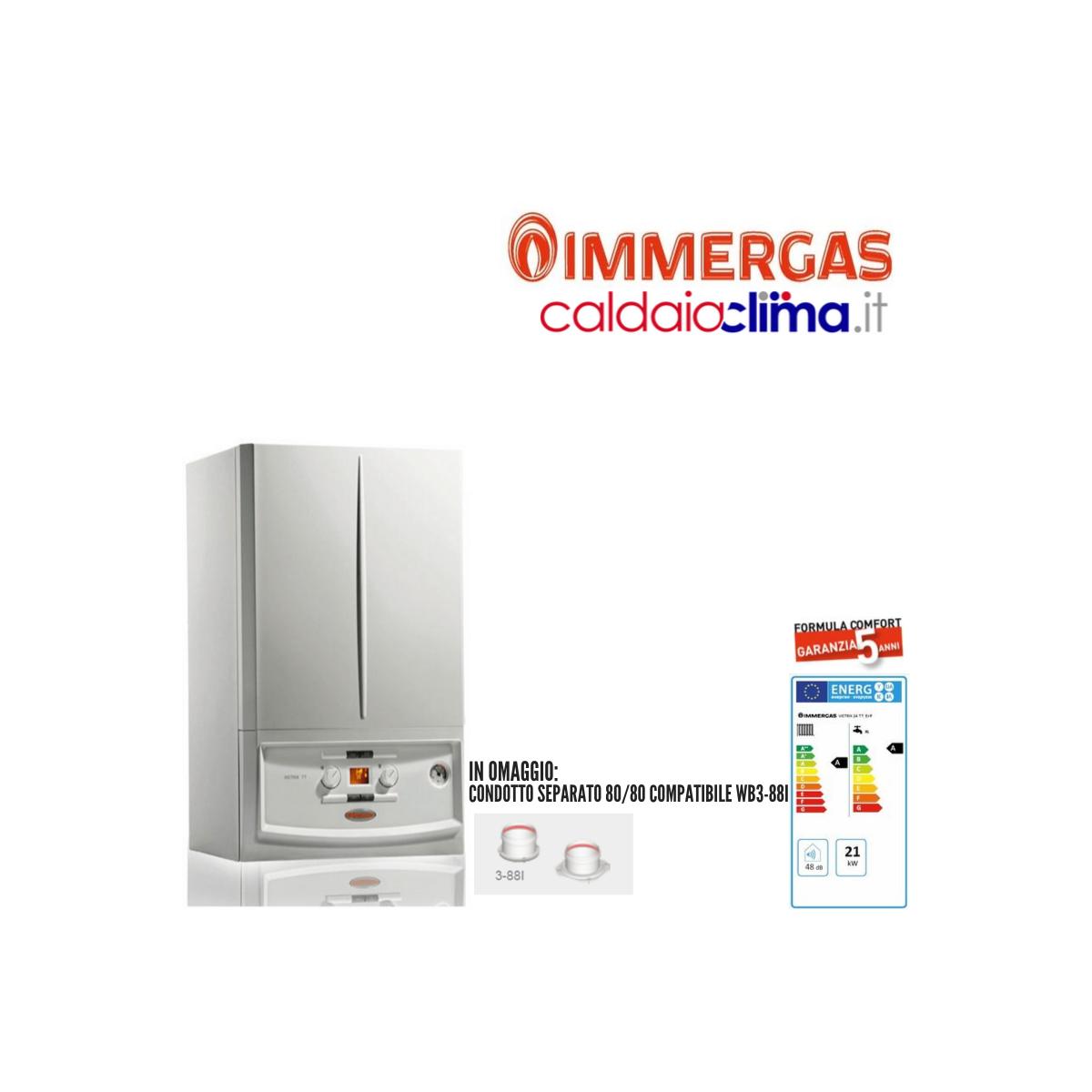 Caldaia a condensazione Immergas Victrix TT Erp 24 - 24 kw Metano