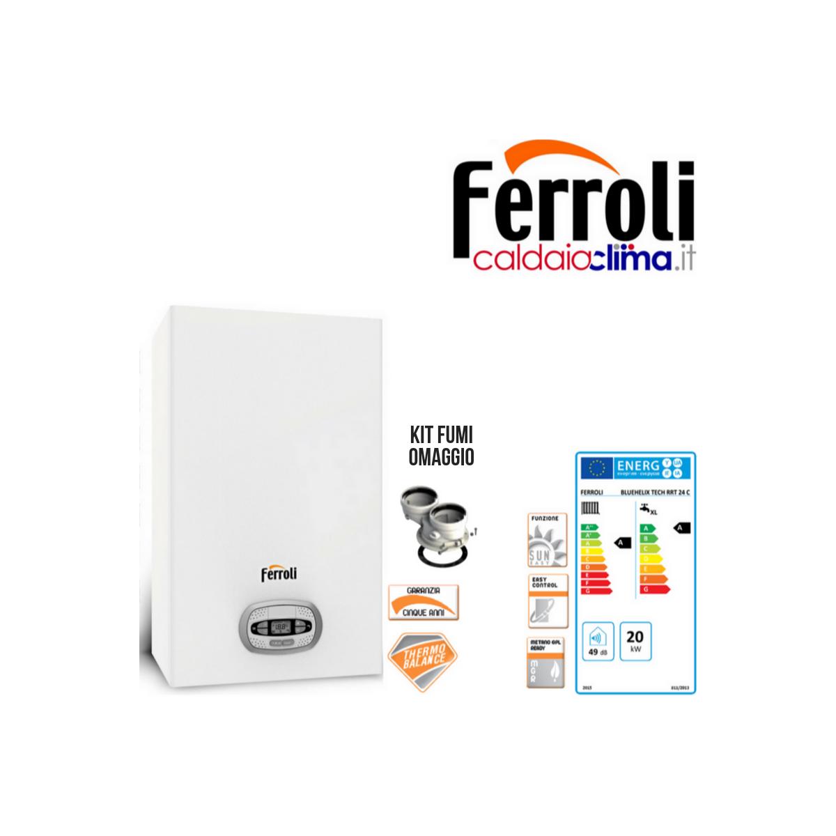 Caldaia a Condensazione Ferroli Bluehelix Tech rrt 24kw Metano