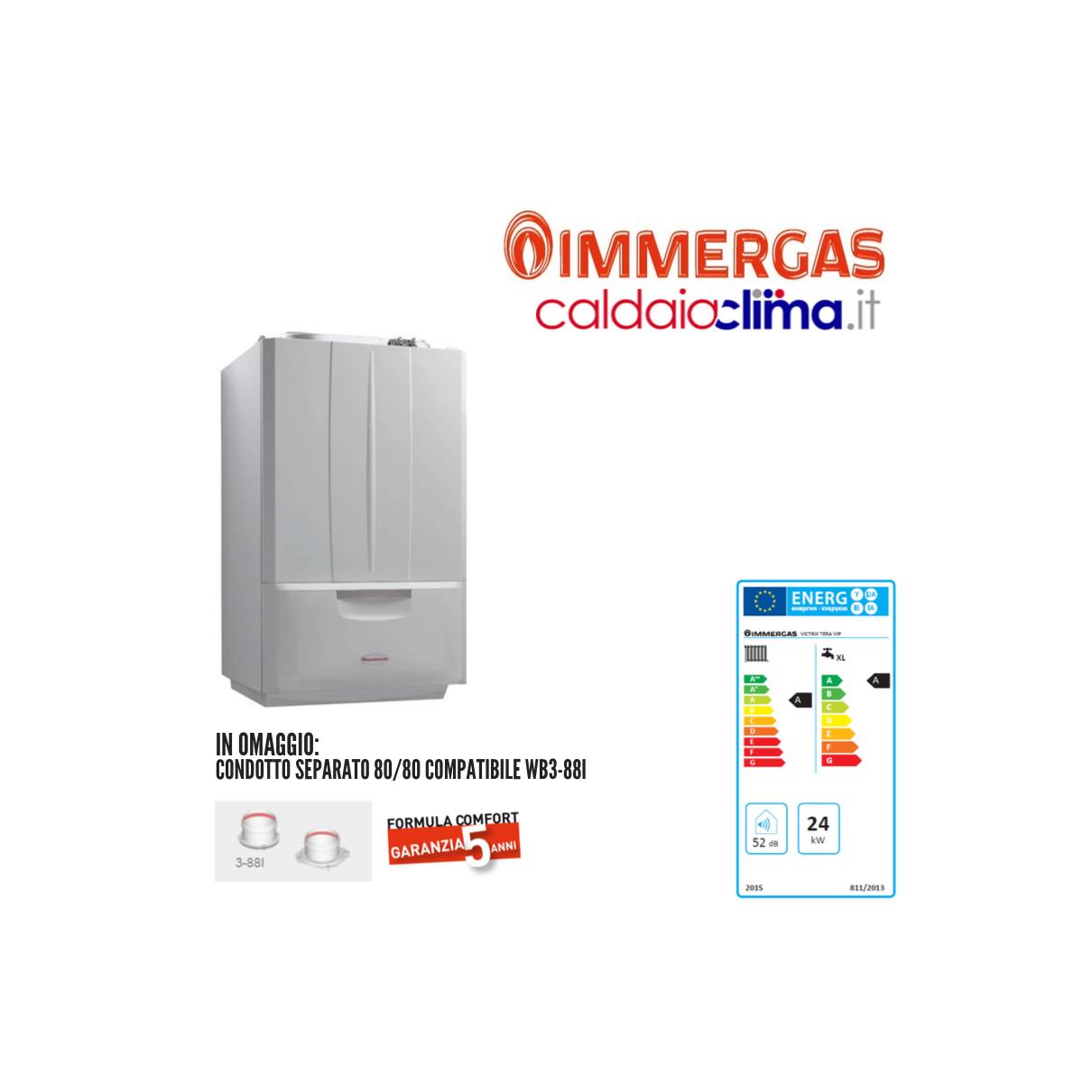 Caldaia a condensazione Immergas Victrix Tera Vip 25 kW