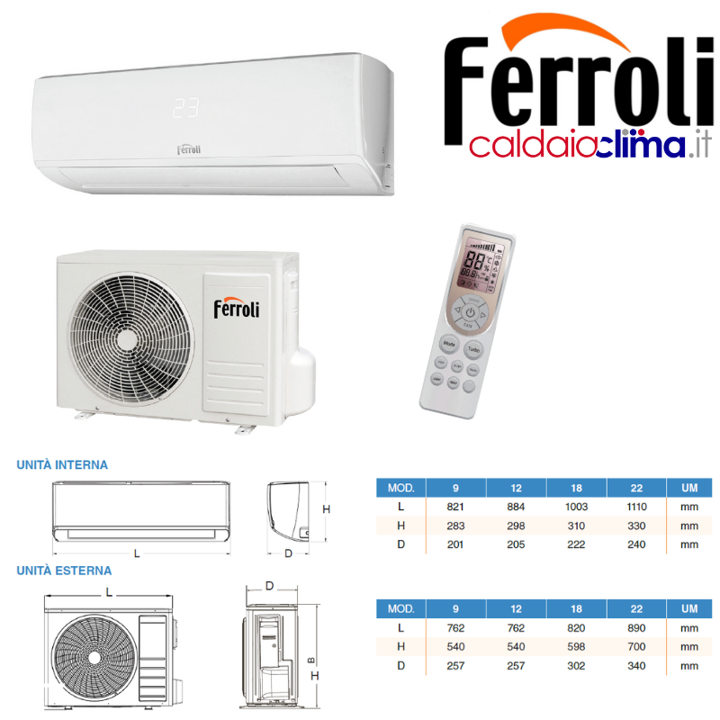 Climatizzatore Ferroli Serie Gold